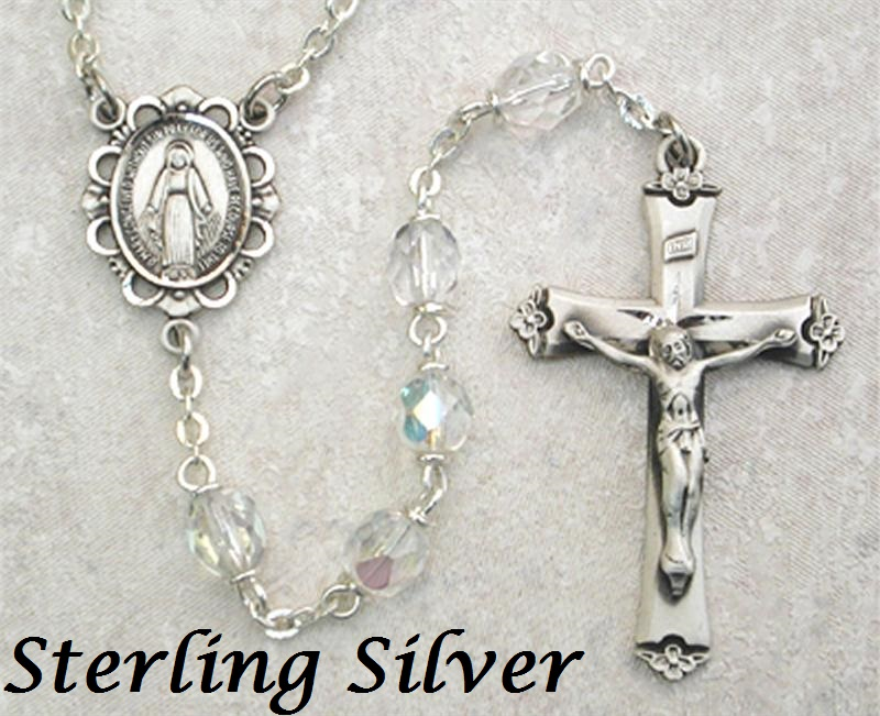 April Birthstone Rosary - Style 8M75LCRF