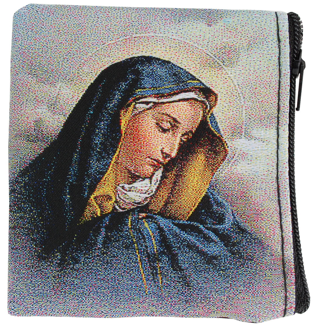 Our Lady of Sorrows Rosary Case - Style RMP7