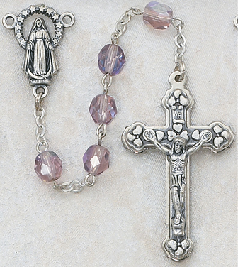 June Birthstone Rosary - Style 1M20AMR