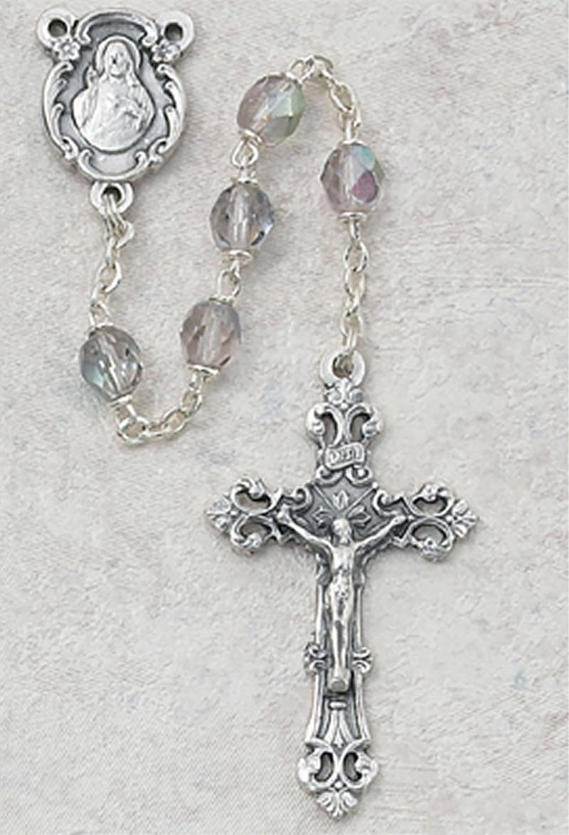 June Birthstone Rosary - Style 8M75AMG